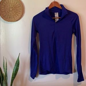 Under armour royal blue 3/4 zip up pullover
